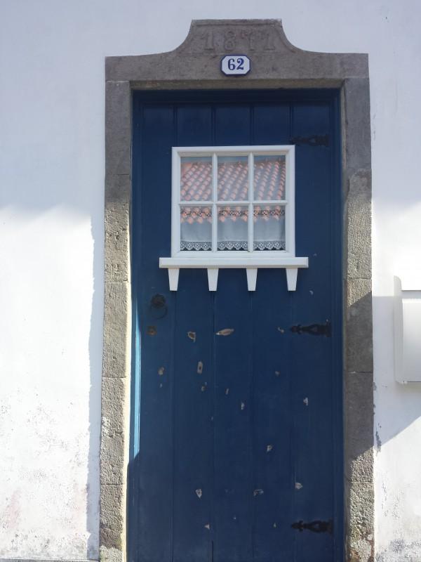 Tuer blau weiß Landhaus Sao Miguel Azoren