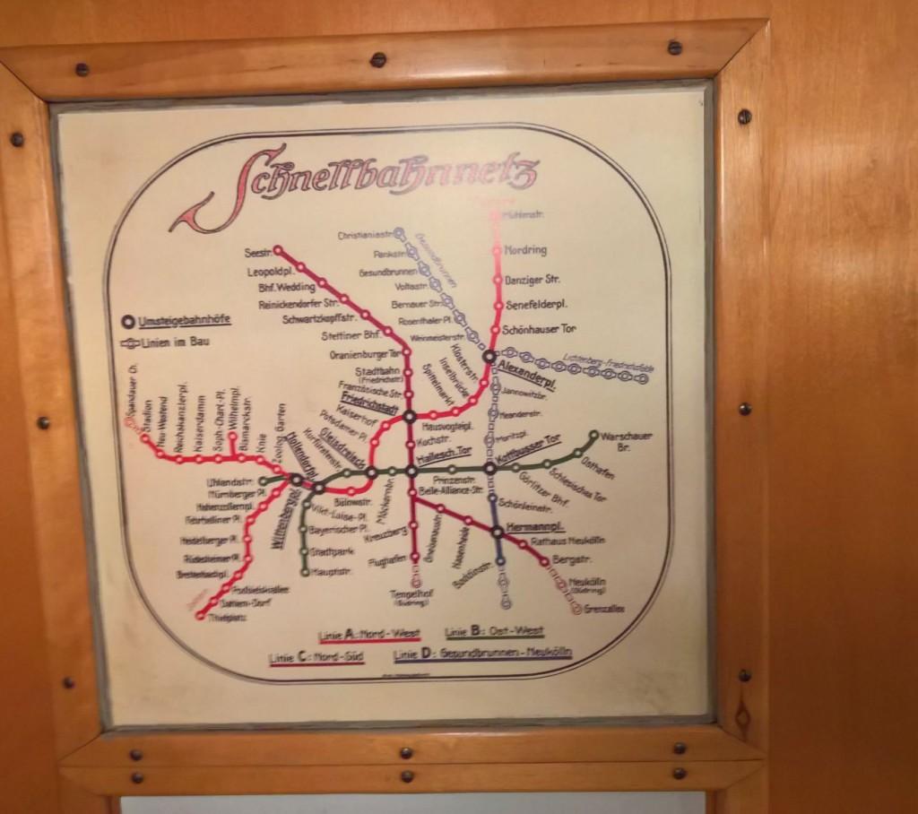 historischer Fahrplan Ubahn