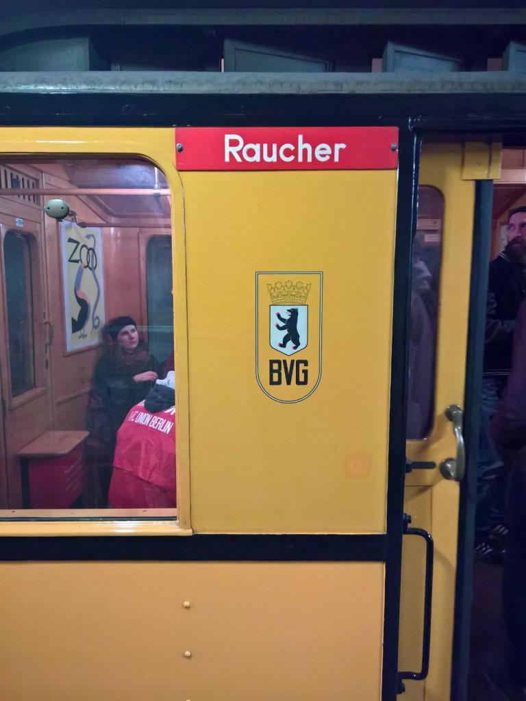 Raucherwagon historische Ubahn Berlin
