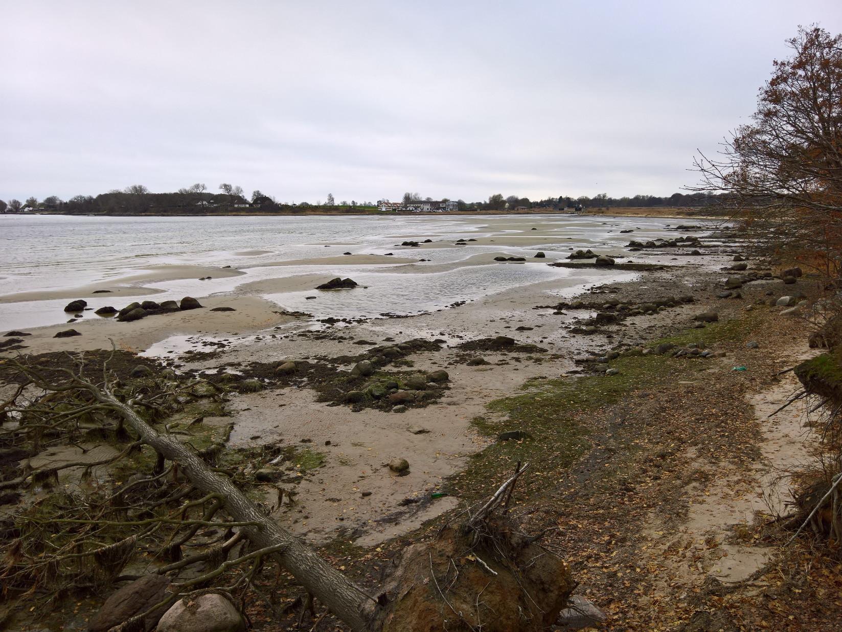 Wreechen Insel Ruegen Bodden Ebbe