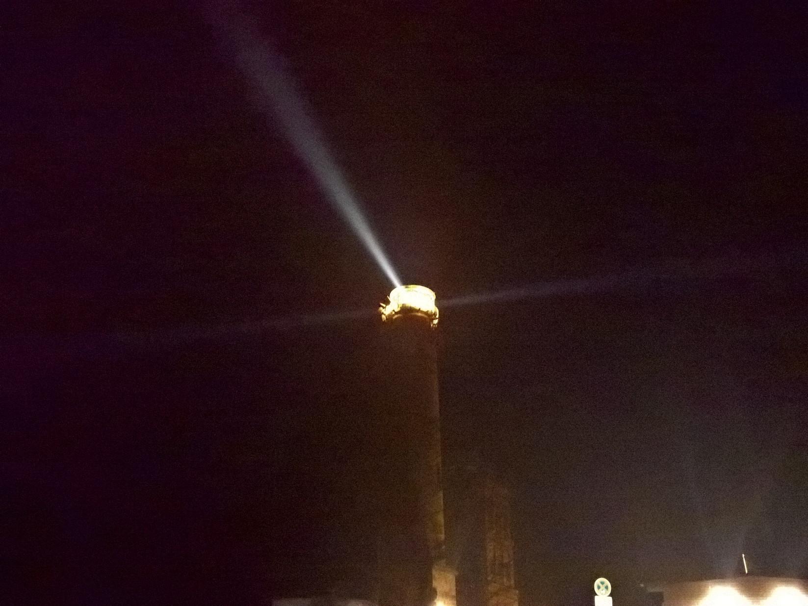 Leuchtturm am Kap Arkona bei Nacht auf Rügen