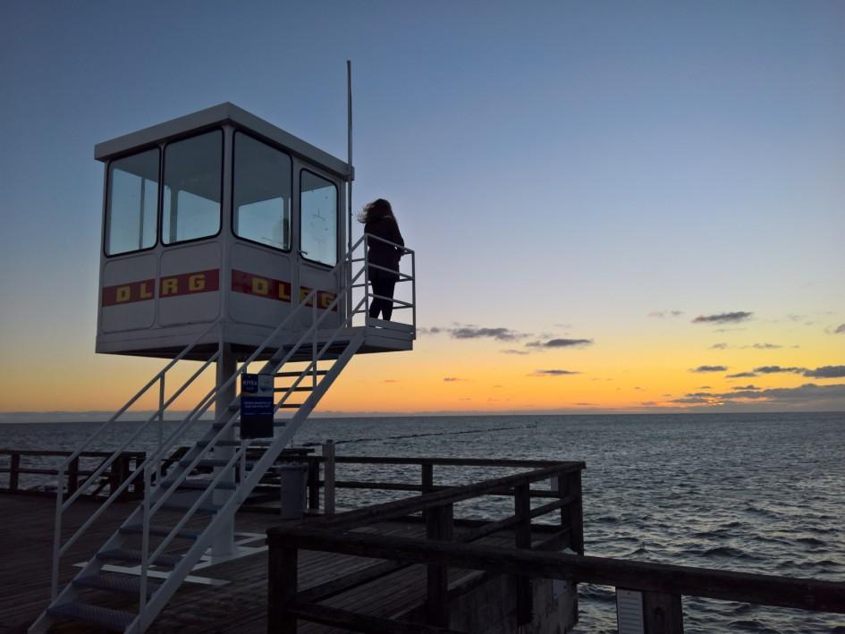 Sellin Seebruecke Ausguck Ruegen Ostsee Sonnenaufgang