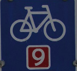 Cycle path Berlin-Copenhagen sign denmark