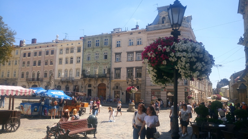 Lemberg Innenstadt Altstadt Lviv Marktplatz