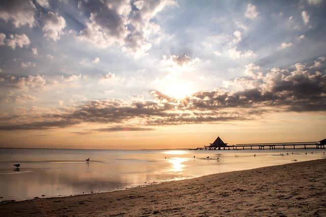 berlin-ostsee warnemuende sonnenuntergang strand