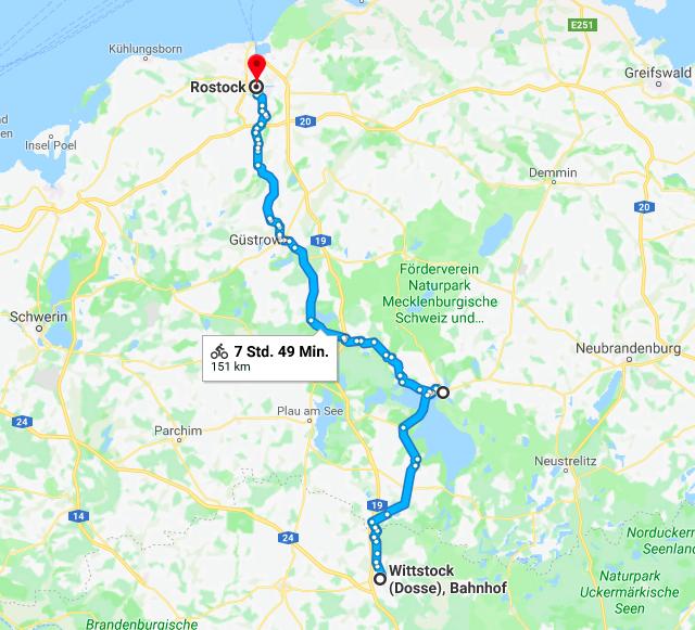 Radtour Berlin Rostock Karte
