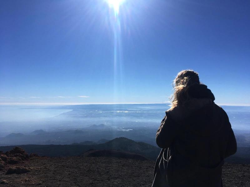 aussicht aetna vulkan oben
