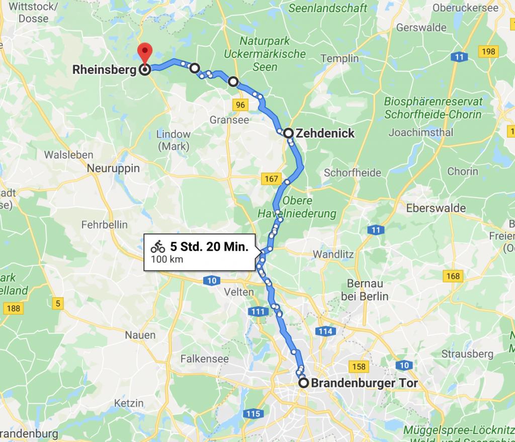 route radtour berlin rheinsberg